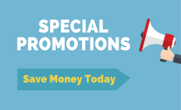 Special Promotions - Save Money Today