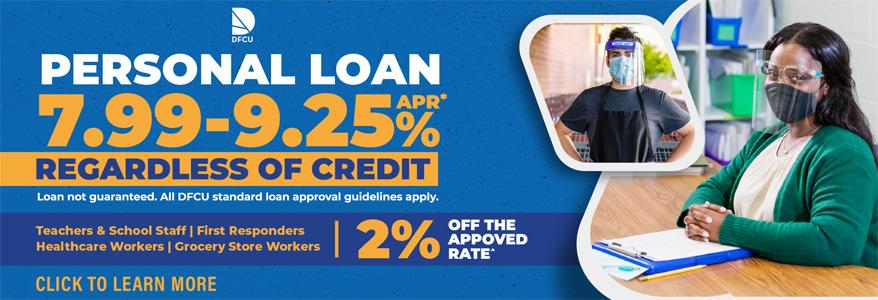 Personal Loan 7.99 - 9.25% APR