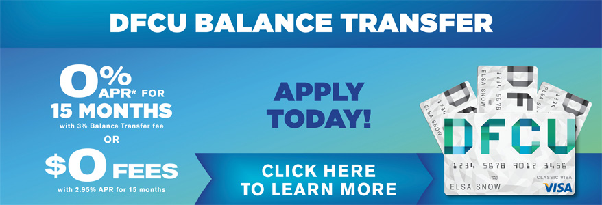 Balance Transfer - 0% APR* for 15 months or $0 fees
