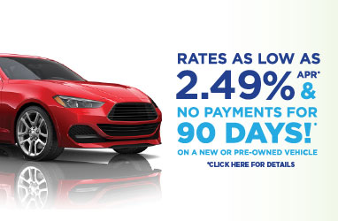 Low Auto Loan Rates and No Payments for 90 Days